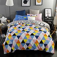 Яркий комплект постельного белья Треугольники (двуспальный-евро) , фото 1