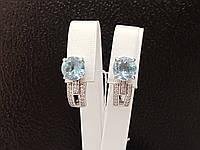 Серебряные серьги Парадиз с топазом и фианитами. Артикул 2081/9р-TSKB, фото 1