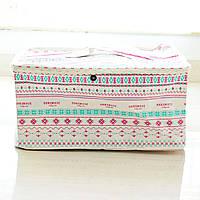 Прямоугольная корзина для детских игрушек с крышкой  , фото 1