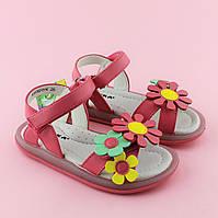 Малиновые сандалии девочке на липучках тм Сказка размер 27,30