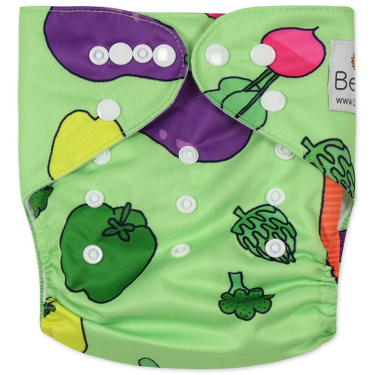 Зеленый Многоразовый Подгузник C Вкладышем Овощи — в Категории ... 8cd40b2a4de