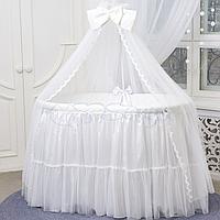 Детский постельный комплект из 7 элементов Ovaldress L'collection, белый, фото 1