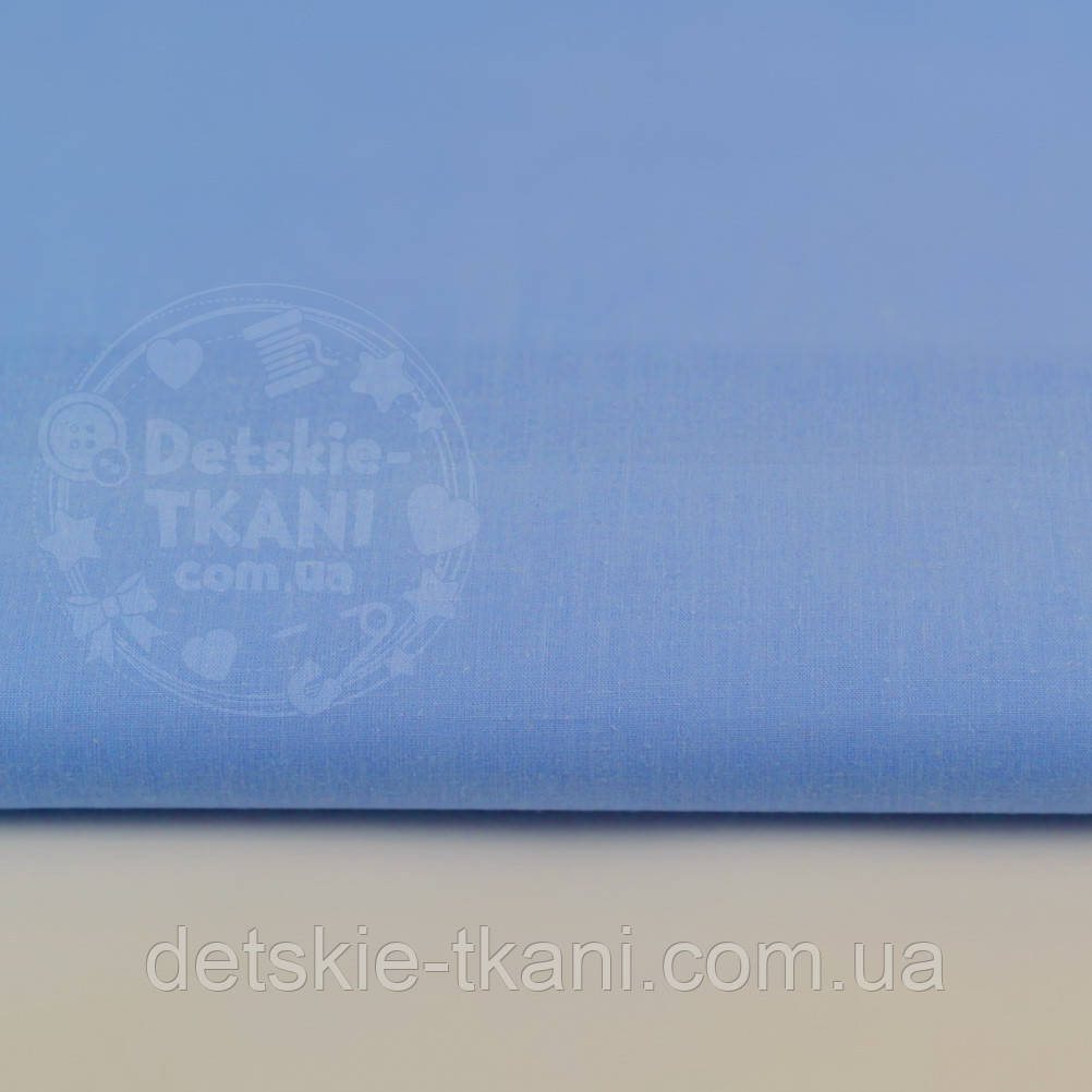Однотонная польская бязь голубая (джинсовый оттенок) №178