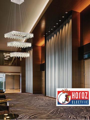 Люстра светодиодная подвесная с кристаллами 96W Pandora-96 Horoz Electric