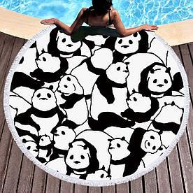 Круглое покрывало-полотенце  20038