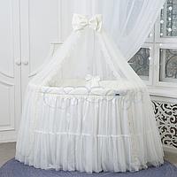 Детский постельный комплект из 7 элементов Ovaldress L'collection, молочный, фото 1