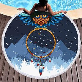 Круглое покрывало-полотенце  20040