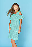 Летнее платье с открытыми плечами Сабина 4 ТМ Arizzo 44-50 размеры