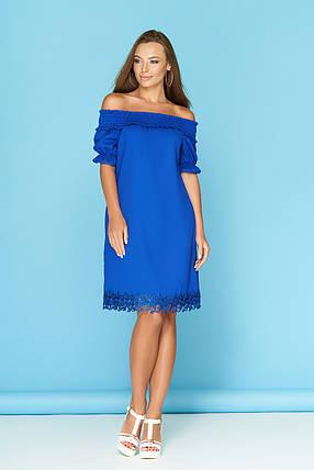 Очень красивое летнее платье сзади завязывается миди электрик, фото 2