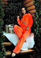 Женский махровый костюм-пижама Тигра. Р-ры 42-44