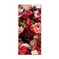Силиконовый чехол для Sony Xperia XA1 G3112 с рисунком розы