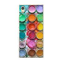 Силиконовый чехол для Sony Xperia XA1 G3112 с рисунком палитра красок