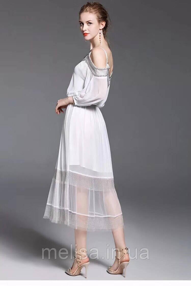 ef737f60630 Белое платье с расшитыми плечами Amodediosa - Интернет магазин женской  одежды Melisa в Харькове