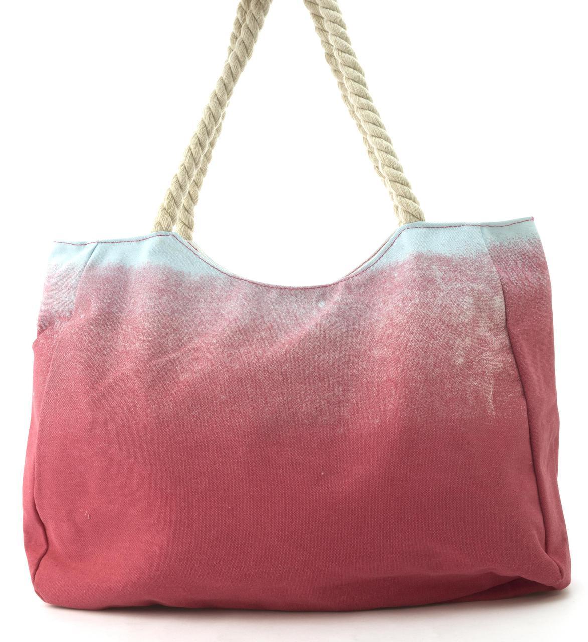 c6577d835da0 ... фото Прочная вместительная женская пляжная сумка art. 752 (101666)  розовая с совой, ...
