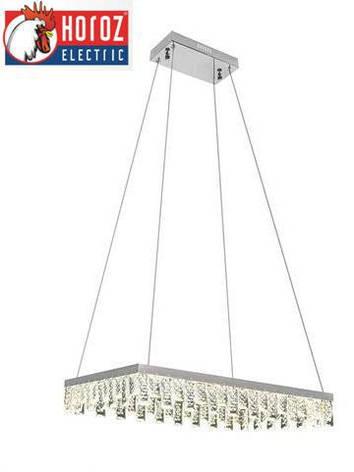 Led люстра подвесная с кристаллами 40W Nirvana-40 Horoz Electric, фото 2
