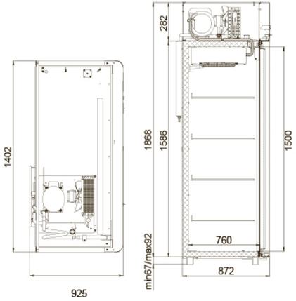 Холодильный шкаф Polair CV114 Sm-Alu под гастроемкости, фото 2