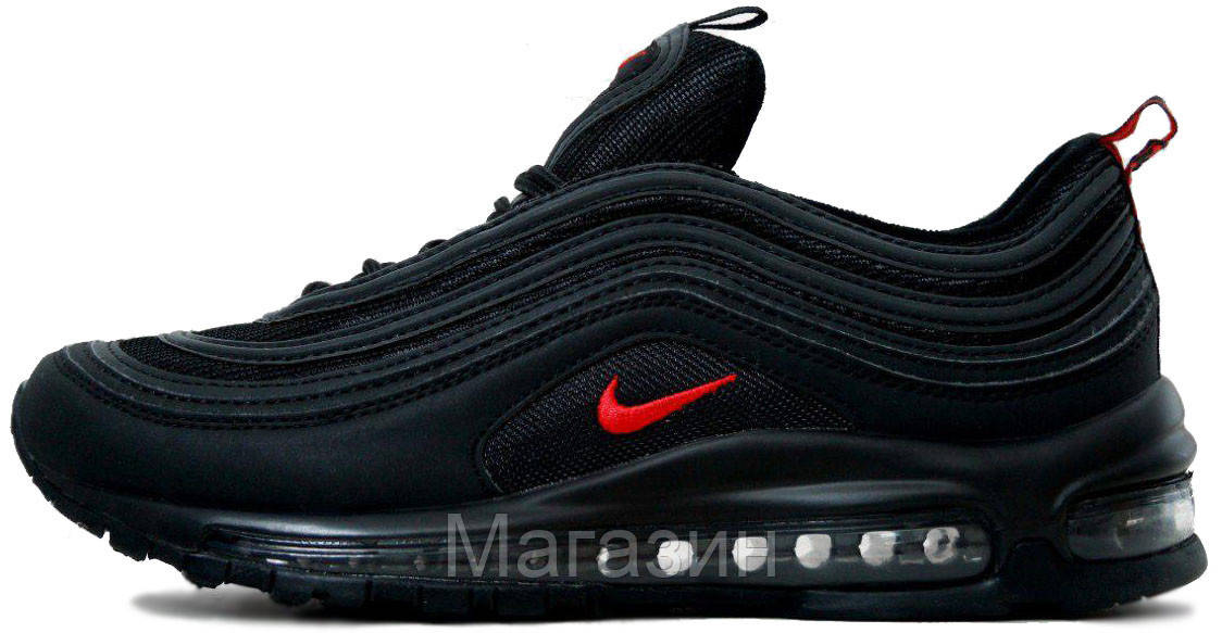 Мужские Кроссовки Nike Air Max 97 Black Найк Аир Макс 97 Черные — в ... 9ad95e75e43