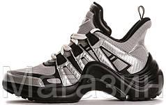 Женские кроссовки Louis Vuitton Archlight Grey/Black Луи Витон серые с черным