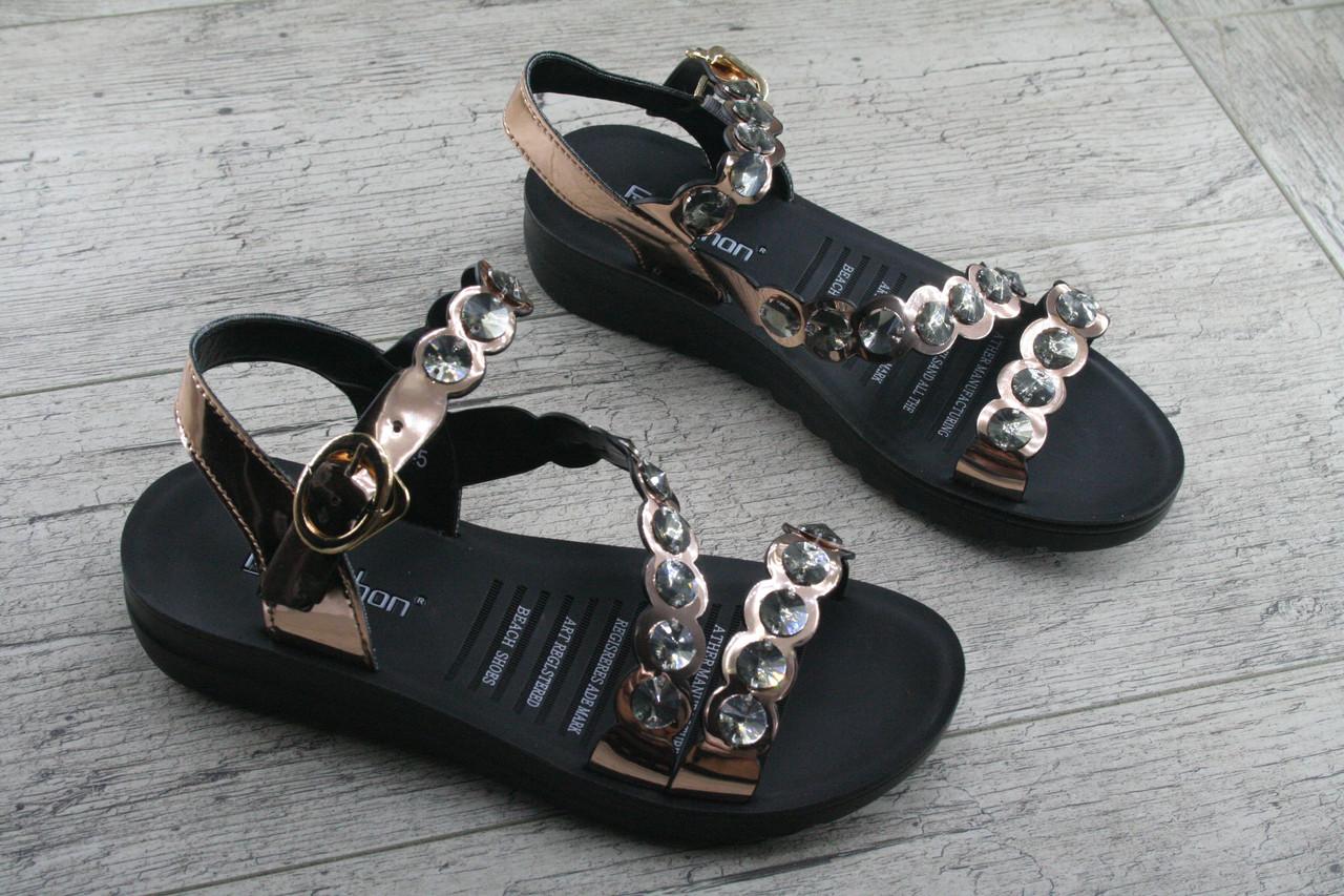 Босоножки, сандалии женские из эко кожи Fugu, обувь летняя, открытая, повседневная