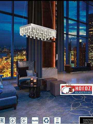 Led люстра подвесная с кристаллами 24W Nirvana-24 Horoz Electric