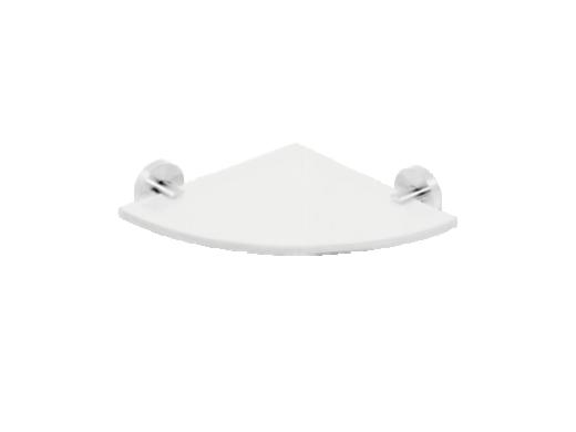 BEMETA BETA: Стеклянная полка, угловая модель