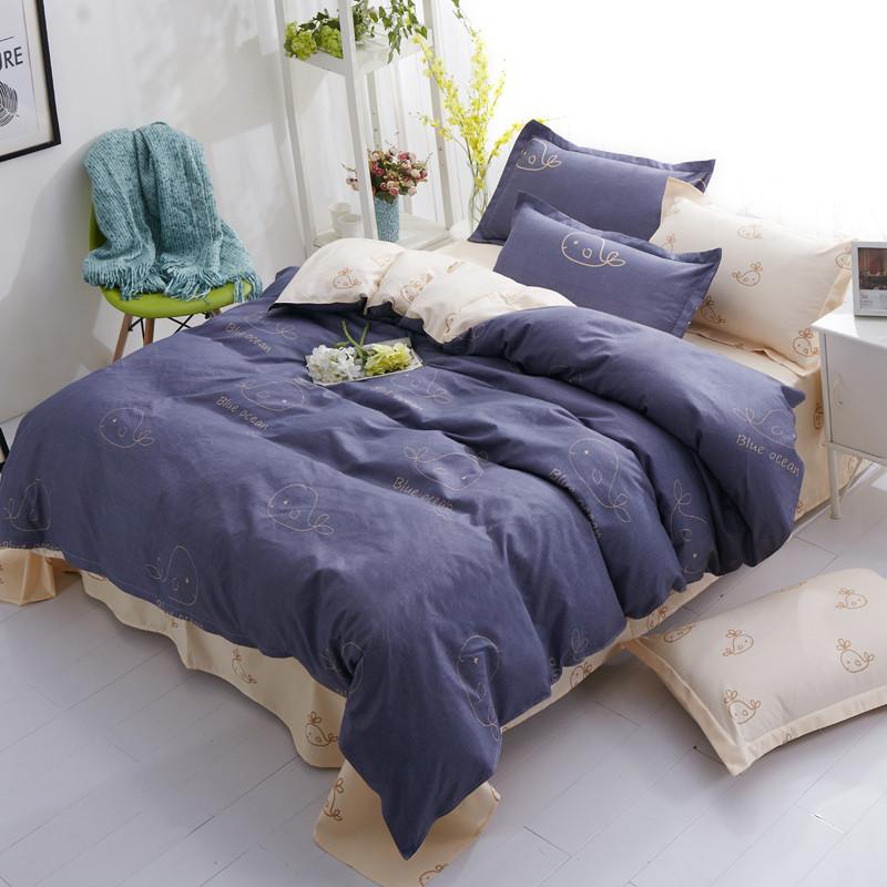 Комплект постельного белья Синий океан (полуторный)