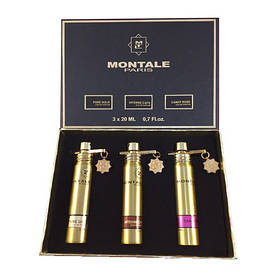 "Подарочный набор Montale ""Pure Gold + Intense Cafe + Candy Rose"" 3x20ml"
