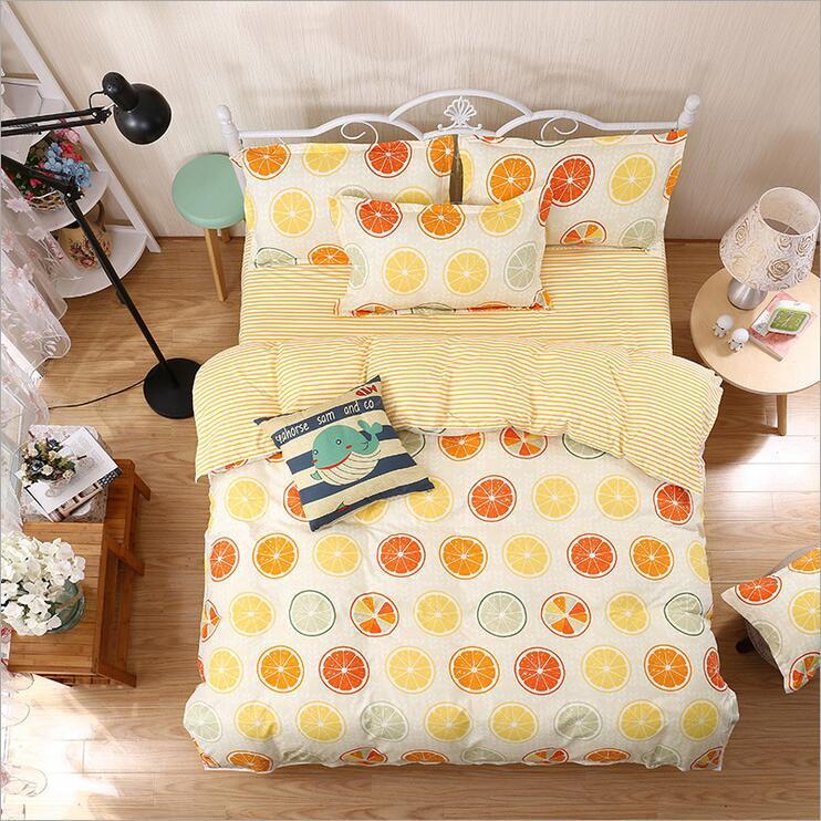 Комплект постельного белья Фрукты (двуспальный-евро)