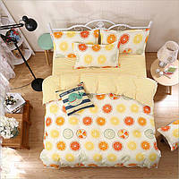 Комплект постельного белья Фрукты (двуспальный-евро) , фото 1