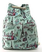 Прочная вместительная женская пляжная сумка рюкзак art. 1507 (101743) зеленый, фото 1