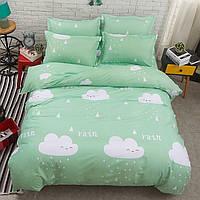 Мятный комплект постельного белья летний дождь (полуторный)