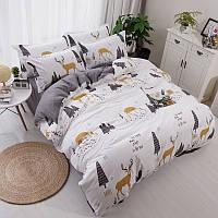Комплект постельного белья Лесной олень (двуспальный-евро)