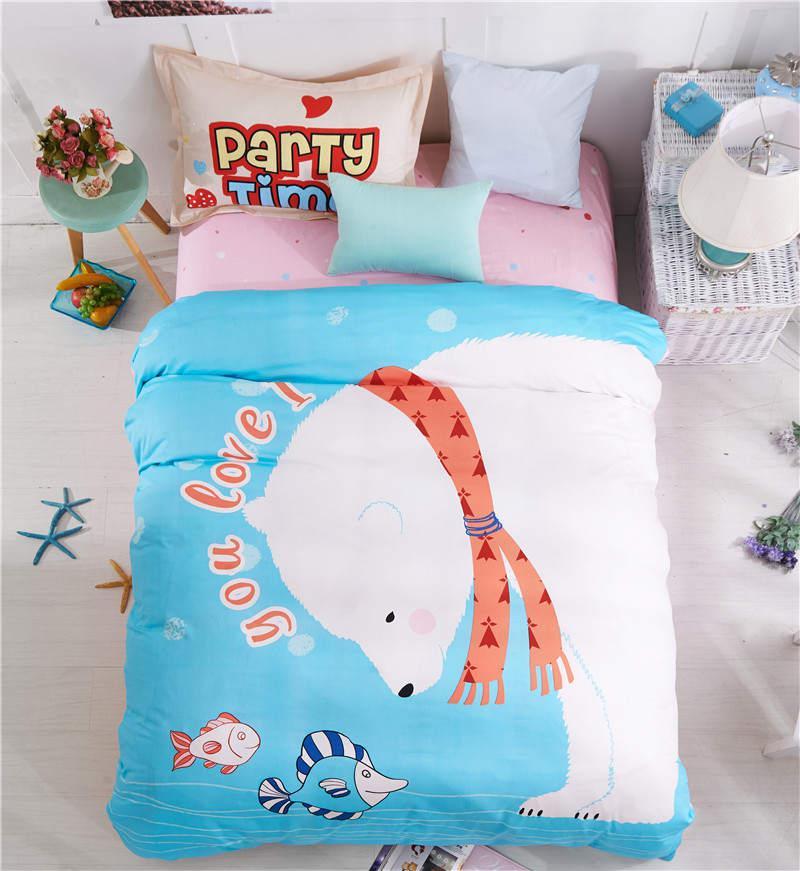 Детское хлопковое постельное белье Полярный мишка (полуторный)