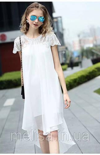 35710aab3f5 Купить Коктейльное белое платье с вышивкой Amodediosa в Украине ...
