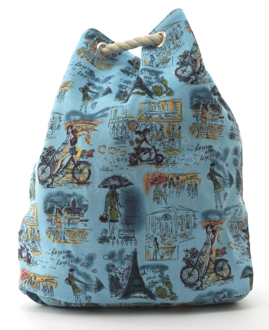 62b86ebb3081 Прочная вместительная женская пляжная сумка рюкзак art. 1507 (101744)  голубая - Ремешок и