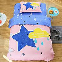 Комплект детского хлопкового постельного белья Ночное небо (полуторный)