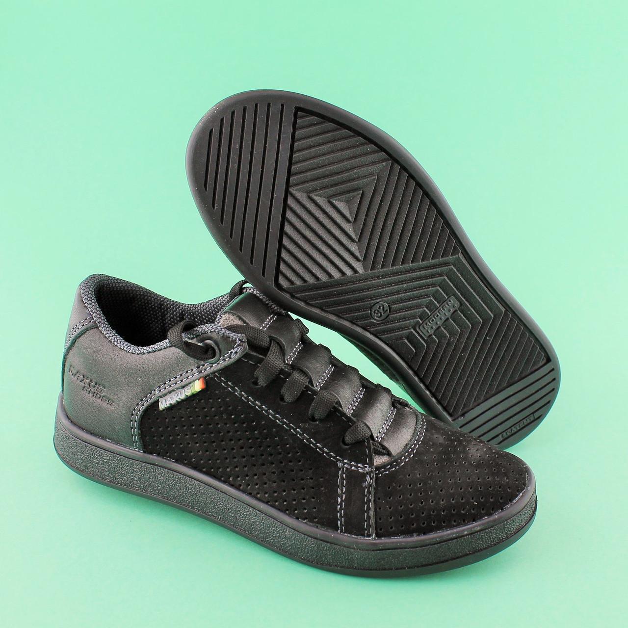 9d259f731 Купить Туфли подростковые на мальчика черный нубук размер 32,33,34 ...