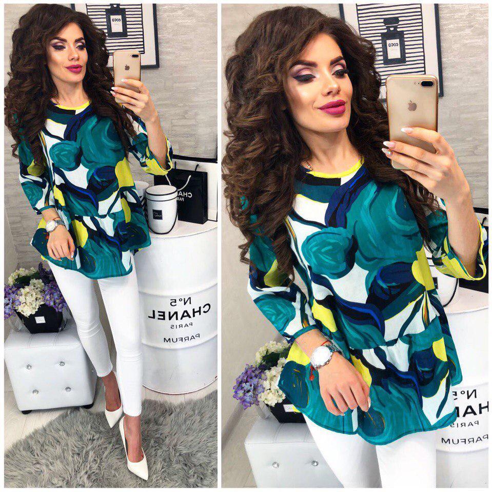 Красивая и яркая блузка из хлопка