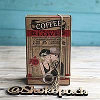 """Кофейный набор с молочным шоколадом  """"Love"""""""
