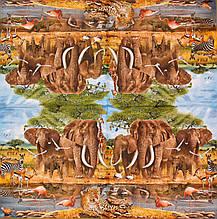 Декупажные салфетки Слоны на водопое 530