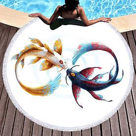 Круглое покрывало-полотенце  20054