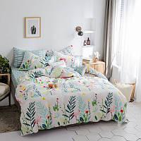 Хлопковый комплект постельного белья Фламинго в тропиках  (полуторный)