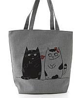Легкая льняная пляжная женская сумка art. Лён  (101699), фото 1