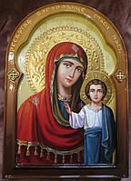 Икона писаная Казанская Божья Матерь 30*21 см