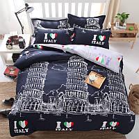 Комплект постельного белья Италия (двуспальный-евро)  , фото 1
