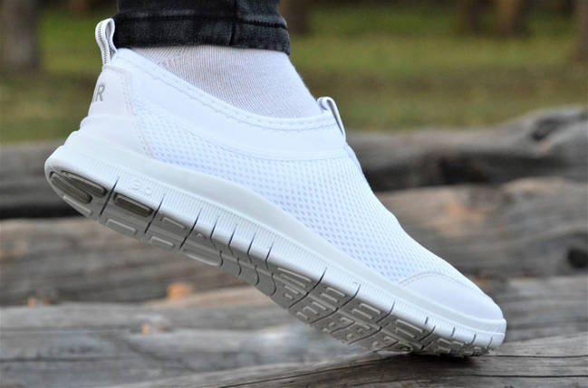 Модные мокасины женские сетка Nike.Белые,красные,черные! без шнурков мягкие , фото 2