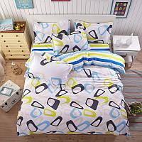 Яркий комплект постельного белья с абстрактным рисунком  (полуторный) , фото 1
