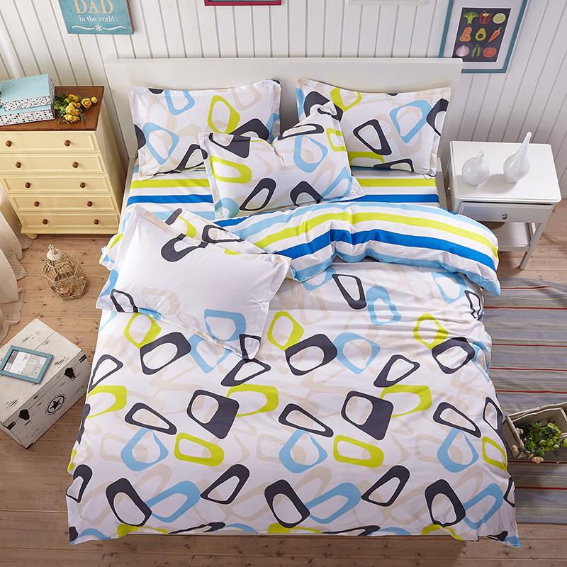 Яркий комплект постельного белья с абстрактным рисунком  (полуторный)