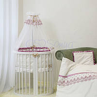 Детский постельный комплект из 7 элементов Ricci, розовый, фото 1