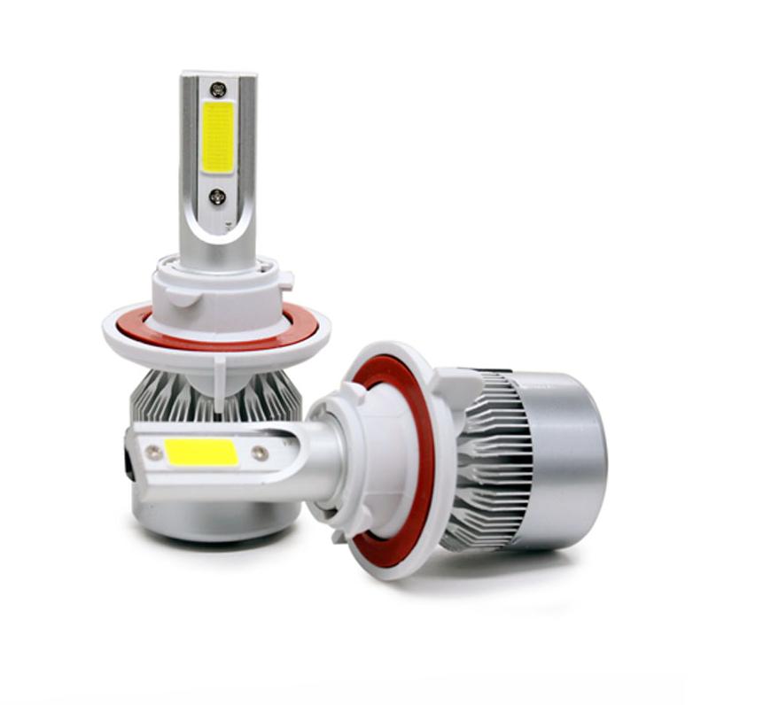 Автолампы LED С6 COB, H13, 3800LM, 6500K, 36W, 12-24V